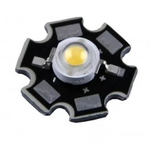 LED Branco 3W 3.4-3.6V de Alto Brilho + Dissipador