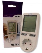 Medidor Digital de Custos de Energia, Potência, Corrente, Frequência, ... (3680W) - ORNO