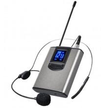 Microfone de cabeça sem fios UHF com receptor - Alta qualidade ate 100 metros