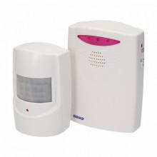 Mini Alarme c/ Sensor Detector de Movimento PIR s/ Fios (Anunciador de Visitas) - ORNO