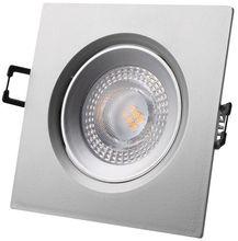 Painel de LED Quadrado (9 x 9cm) 5W Branco Q. 3000K 380Lm - Cinza