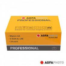 Pilha Alcalina AA 1.5V AGFAPHOTO - 10 unidades