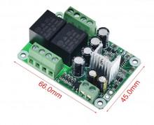 Placa de protecção DC e atraso para saída de amplificador Stereo - Montada