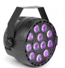 Projector 12 LEDs x 1W Luz Negra UV DMX (12W)