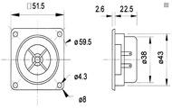 Tweeter Cúpula de policarbonato HI-FI 100W 8Ohm (par)- Visaton