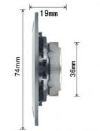Tweeter Magnético 4Ω 20W - Membrana de Titânio