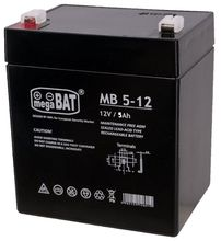 Bateria Chumbo 12V 5Ah (90 x 70 x 101 mm) - megaBAT