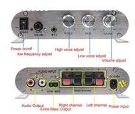 Amplificador 2.1 - 2x 20W + Subwoofer 1x 40W - 12V / 220V