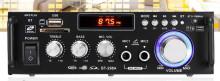 Amplificador Karaoke 2x50W 4-8 Ohm 220v/12V USB/BT