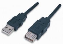 Cabo Extensão USB 2.0 A Macho / Fêmea 1m
