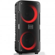"""Coluna Bluetooth Portátil 2x 6,5"""" 40W / SD / USB / Rádio"""