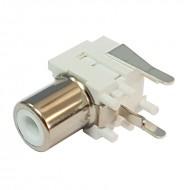 Conector RCA para Circuito Impresso - Branco