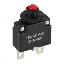 Disjuntor Interruptor Protetor de Sobrecarga Fusível 3A