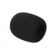 Esponja para microfone mini preto 55x38x16 milímetros