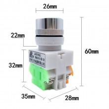 Interruptor de pressão industrial - momentâneo