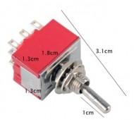Interruptor Mini-Alavanca ON-ON 3A 9 Pinos