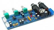 Pre-amplificador para 2 microfones com eco