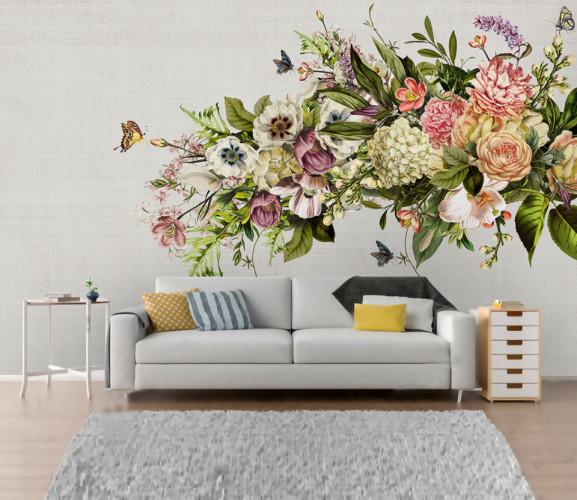 Fototapet Personalizat Buchet de Flori Chinezesc