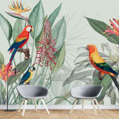 Fototapet Personalizat Intalnirea Papagalilor