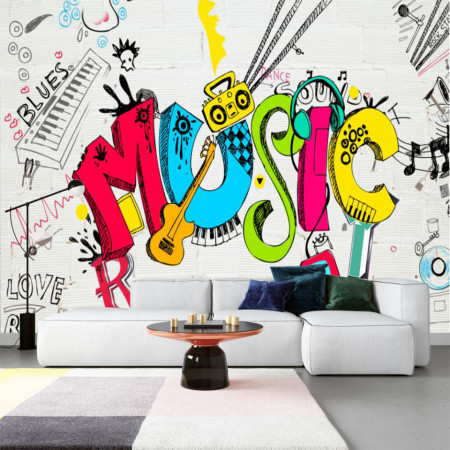 Fototapet Music on The Wall