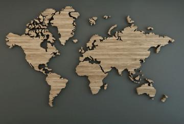 Fototapet Personalizat Harta Lumii Texturata