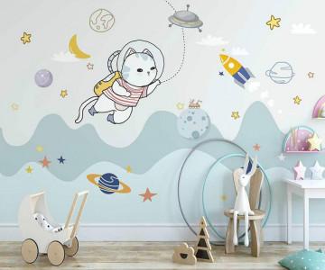Fototapet Pisica Astronaut
