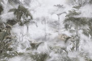 Fototapet Copaci și Frunze Tropicale