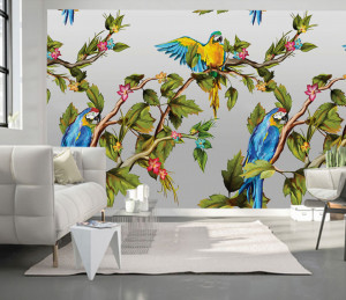 Fototapet Personalizat Papagalul din Padurea Tropicala
