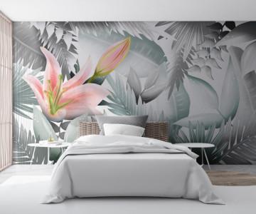 Fototapet Frunze Tropicale Colorate