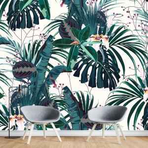 Fototapet Personalizat Frunze Verzi Tropicale