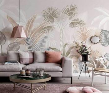 Fototapet Personalizat Elegant Tropical Plants