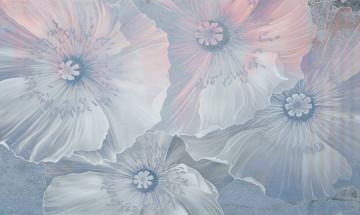 Fototapet White-Blue Flowers