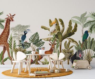 Fototapet Banana and Jungle Animals