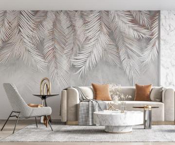 Fototapet Modern cu Frunze Tropicale