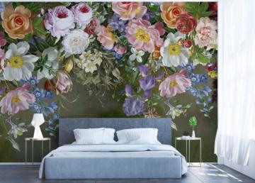 Fototapet Personalizat Buchet de Liliac si Trandafiri