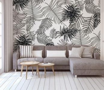 Fototapet Personalizat Frunze Texturate Nordice