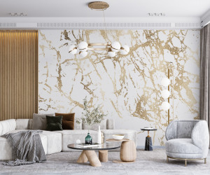 Fototapet Marble Texture With Gold
