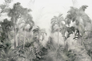 Fototapet Tropical Trees and Leaves