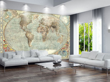 Fototapet Personalizat Harta Globului