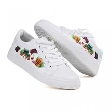 Pantofi Casual Flowers White