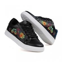 Pantofi Casual Flowers Black