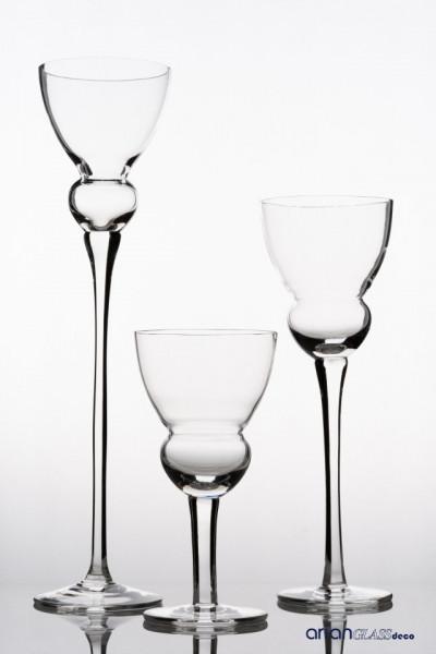suport lumanare ialt din sticla