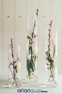 Set 3 cilindri sticla Bride H 30-40-50 cm