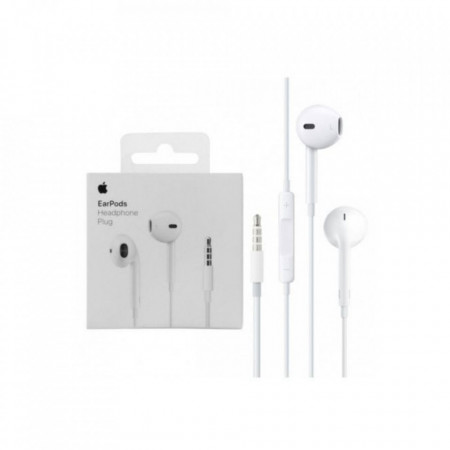 Casti Handsfree Originale Apple cu mufa Jack 3.5 mm, control volum si microfon pentru iPhone 5/5S/SE/6/6s/ 6 Plus/6s Plus