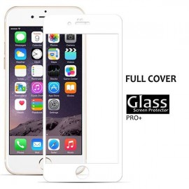 Folie sticla securizata (Tempered Glass) iPhone 6 / 6S, acopera tot ecranul - White