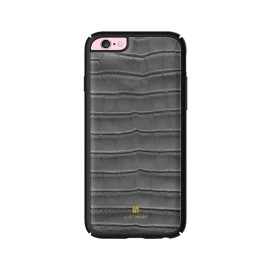 Husa iPhone 6 / iPhone 6S Just Must Croco Gray (protectie margine 360°)