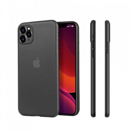 Husa PP Ultra Slim, Semi-Transparenta pentru Apple iPhone 11 Pro Max , Black