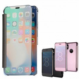 Husa Clear View Book Mirror iPhone X