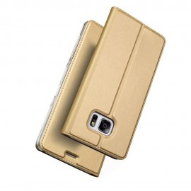 Husa Leather Flip DD, Samsung Galaxy S7 Edge, G935, Gold