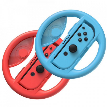 Baseus 2x set car wheel handle for Joy-Con joystick pad la Nintendo Switch red si blue (GMSWB-93)